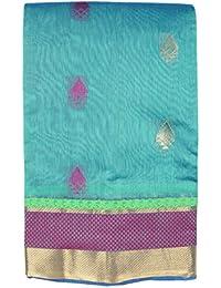 Saravanabava Silks Kanchipuram Silks Sarees (Pattu Kotta Cotton With Blouse Self SRBS0123 )