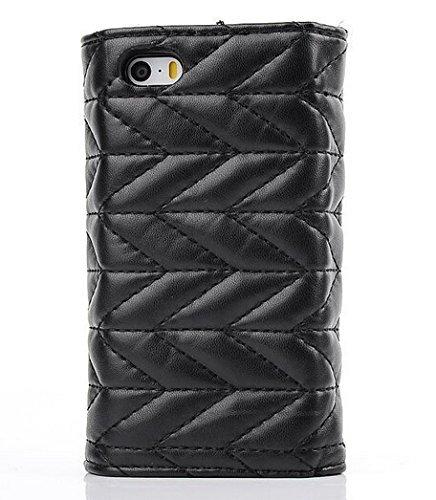 E-Max 4 en 1 Wallet Flip Case Cover Housse Portefeuille Etui Pour Coque Apple iPhone 6 Plus 5.5 Inch , Stylus et Film protecteur inclus, Brun (E03) D01
