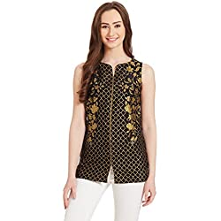 Aurelia Women's Straight Kurta (16AUK21293-61864_Black_Large)