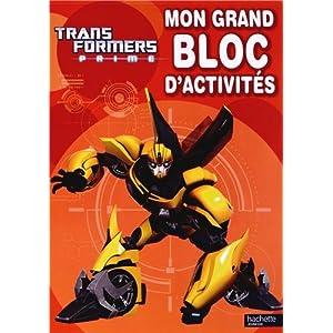 Mon grand bloc d'activités Transformers Prime