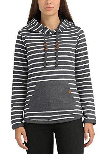 BLEND SHE Carina Damen Kapuzenpullover Hoodie Sweatshirt aus hochwertiger Baumwollmischung Pewter Mix (70817)
