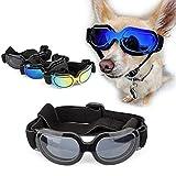 SymbolLife Sonnenbrille für Hunde Katze Hundebrille Hundesonnenbrille Brille für Klein/Mittel Hund Wasserdicht Augenschutz UV-Schutz Anti-Fog Verstellbar (Schwarz)