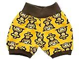 Kleine Könige kurze Hose Gr. 50-152 Baby Hose Junge Sommer Tiere Äffchen gelb, braun
