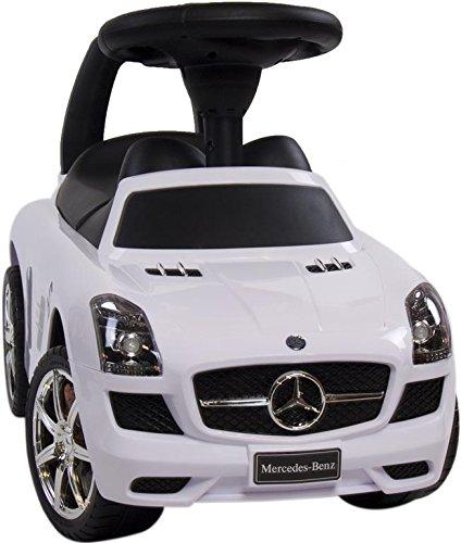 Rutschauto Rutscher Bobby car Mercedes-BENZ SLS AMG Kinder Auto Baby Car mit Sound (WEISS) - 5