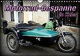 Motorrad-Gespanne in Kuba (Wandkalender 2019 DIN A4 quer): Motorrad-Oldtimer mit Beiwagen in Kuba...