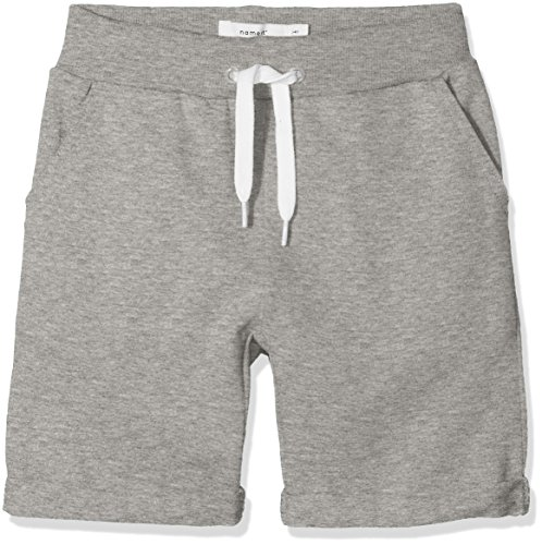 NAME IT Baby-Jungen Nmmvain SWE Long Shorts UNB D, Grau (Grey Melange Grey Melange), 92