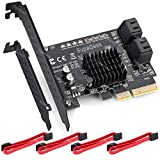 SupaGeek 4 Ports SATA III PCIe 3.0 x4 Raid Controller Card Marvell 88SE9230