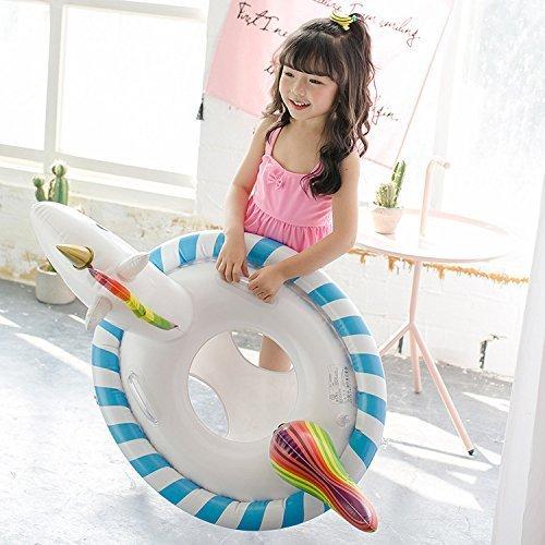 Baby Aufblasbarer Einhorn , GINKAGO® Kinder Schwimmring Badespielzeug Pool Floß Schwimmen Spielzeug , 90*60*60cm