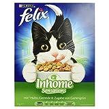 Felix Katzentrockenfutter Inhome Sensations (mit Huhn, Getreide und Zugabe von Gartengrün) 1kg Karton