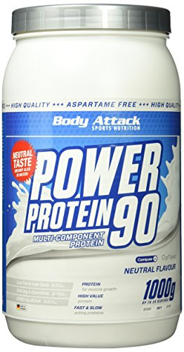 Body Attack, Power Protein 90, Neutral, 1er Pack (1x 1000g)