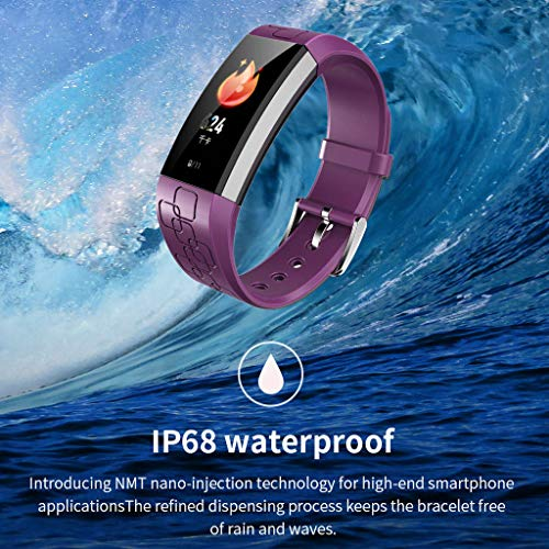 TianranRT★ Smart Watch Bluetooth Smart Watch - Smart Bluetooth Pulsmesser Armbanduhr, Neue Mode, Lila (16M * 9Cm * 5Cm) (Wurst-kit)
