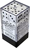 Chessex Manufacturing 25601 Opaque White With Black - 16 mm Six Sided Dice Set Of 12 by Chessex Manufacturing