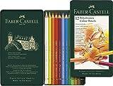 Faber Castell F110012 Polychromos Colour Pencils Tin Of 12