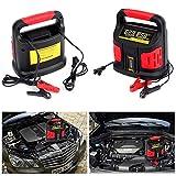 Dazone Automatisches Ladegerät KFZ für Auto und Motorrad von 20-200Ah (Optimale Ladung, Ladespannung 12 V/24 V, Ladefortschrittsanzeige) – EU Stecker