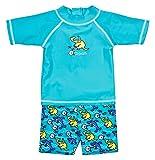 Landora Baby-/Kleinkinder-Badebekleidung 2er Set mit UV-Schutz 50+ und Oeko-Tex 100 Zertifizierung in türkis; Größe 86/92