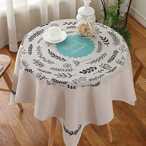 CJH Pastoralen Stoff Baumwolle Leinen Stil Kreative Kleine Tischdecke Platz Couchtisch Tuch Runde Tischdecken ( Color : C ) (Tan Kunststoff Tischdecken)