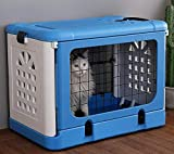 WLDACA Airline Approved Foldable Pet Carrier Small Dogs Cats,Transport Box Car, Train Airplane Travel
