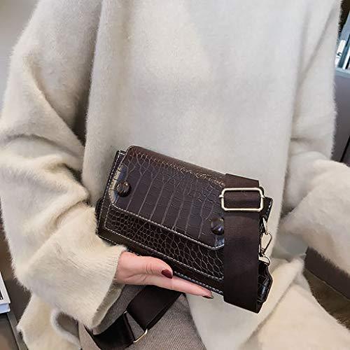 Haludock Vintage crocodile pattern fashion versatile shoulder bag Messenger bag