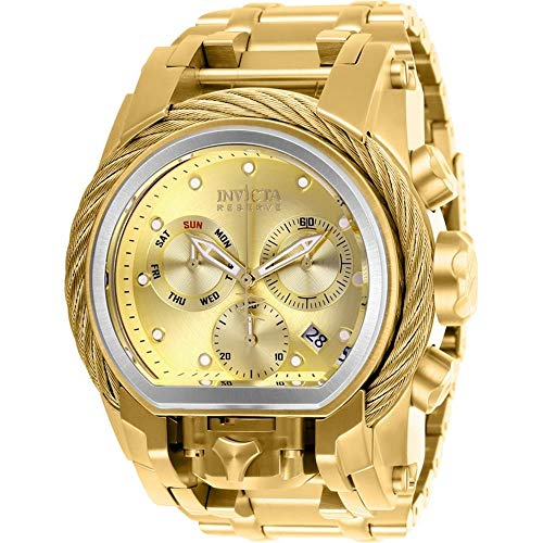Invicta Men's Reserve Gold-Tone Steel Bracelet & Case Swiss Quartz Watch 26586