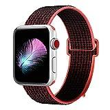 HILIMNY pour Bracelet Apple Watch 42MM, Bracelet Sport Doux Nylon Remplacement pour...