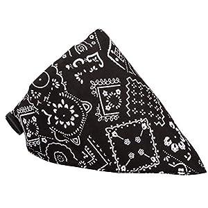Cdet. 1pc Echarpe Foulard Col Bandana Triangle pour Chien Chat Animaux Collier Reglable Animaux de Compagnie Fournitures Noir