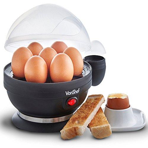 VonShef Cuiseur à œufs - 7 œufs durs, mollets ou à...