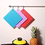 celebrationgift 7 Inches Square Silicone Pot Holder(Square mats, Multicolour)-Set of 4