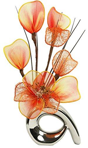 Flourish 792862 Mini Swirl - Par de jarrones con flores artificiales, 32...
