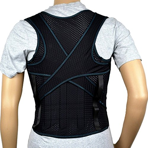 eeddoo Rückenstützgürtel Rücken-Gurt - Rückenbandage für Frauen & Männer - Medizinische Rückenstütze zur Schmerzlinderung mit Klettverschluss - für Damen & Herren