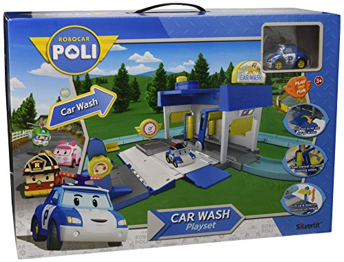 Rocco Giocattoli 83159 - Robocar Poli Car Wash Playset