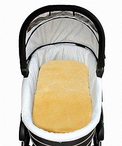 Preisvergleich Produktbild Baby Lammfell Einlagen 30 mm geschoren für Tragetasche, Kinderwagen, Kinderbett, ca. 73x33 cm, waschbar