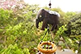 Generic Elephant Wood Caving Mobile Wind Chime Bell Garden Ornament Home Decoration*