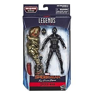 Marvel Legends - Figura de Spider-Man Stealth Suit Action, 15 cm, Inspirado en Spider-Man: Far from Home - Build-a-Figure Molten Man