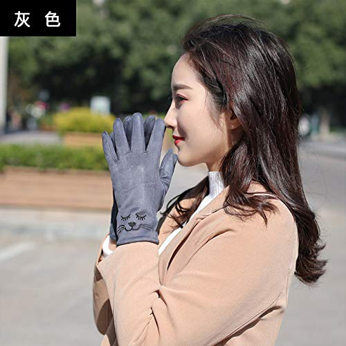 51ZNkVzNziL. SS500  - Q_STZP Gloves glove mitten Gloves ladies autumn and winter cute Korean students warm and velvet thickening bike points five fingers windproof touch screen gloves