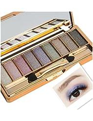 Eyeshadow Palette, Transer® 9 Colors Shimmer Eyeshadow Eye Shadow Palette & Makeup Cosmetic Brush Set for Makeup Cosmetics Beauty Eyeshadows