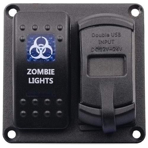 HaiMa Panneau De Commutation du Véhicule Voltmètre À Rétroéclairage LED-Noir