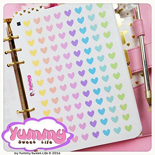 2-fogli-di-adesivi-stickers-a5-cuori-squadrati-arcobaleno
