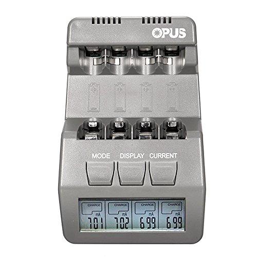 Global Opus BT-C700 12V LCD Display 4slots AA AAA NiMH NiCd wiederaufladbare Batterie Ladegerät -