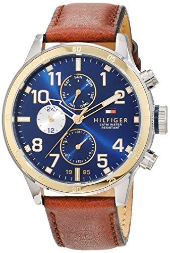 Tommy Hilfiger Herren Analog Quarz Uhr mit Leder Armband 1791137