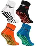 Rainbow Socks - Damen Herren Neon Sneaker Sport Stoppersocken