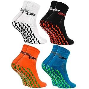 Rainbow Socks – Damen Herren Neon Sneaker Sport Stoppersocken