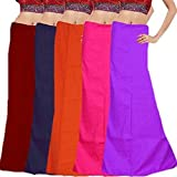 JUST CLIKK Women's Cotton Petticoats (60, Free Size, Multicolour)-Combo of 5