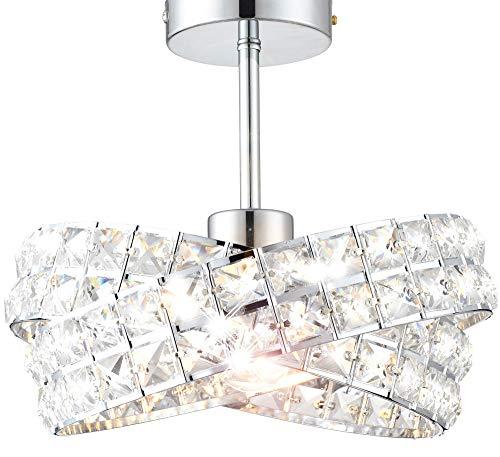 Design Glas Kristall Deckenleuchte Kronleuchter Leuchte Deckenlampe Lampe Lüster Ø 30cm 1xE27