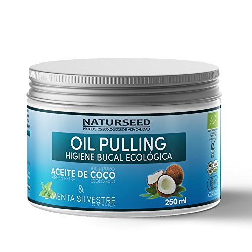 Oil Pulling, Enjuague Bucal Natural - Aceite De Coco & Menta Silvestre, 250ml