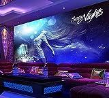 YSDECOR Personalizado Cool Sexy Hermosa Discoteca Ktv Fondo Pared Foto Papel Pintado De Hotel Bar Mural Papel Pintado Karaoke Mural 3D