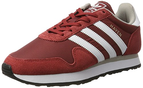 adidas Unisex-Erwachsene Haven Sneaker Rot (Mystery Red/Footwear White/Clear Granite)