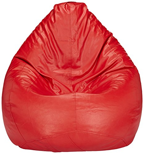 Solimo XXL Bean Bag Cover Without Beans (Red)