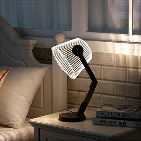 H&M Lampes de bureau Lampe de chevet Atmosphère lampe étude Lampe de bureau Régulateur de luminosité Niveaux de luminosité Eye-care salon chambre 3D acrylique lampe de table en bois massif