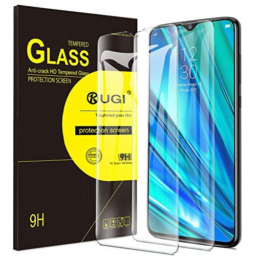KuGi. pour Verre trempé Realme 5 Pro, [Dureté 9H] HD Ultra Transparent Protection écran en Verre trempé pour Realme 5 Pro (Pack de 2)
