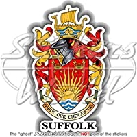 Suffolk County stemma distintivo Crest Ipswich Inghilterra Regno Unito 105mm (10,7cm) adesivo in vinile, decalcomania